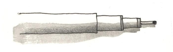 Ilustración realizada con un rotulador calibrado (03) sobre el que se ha aplicado una aguada con grafito acuarelable
